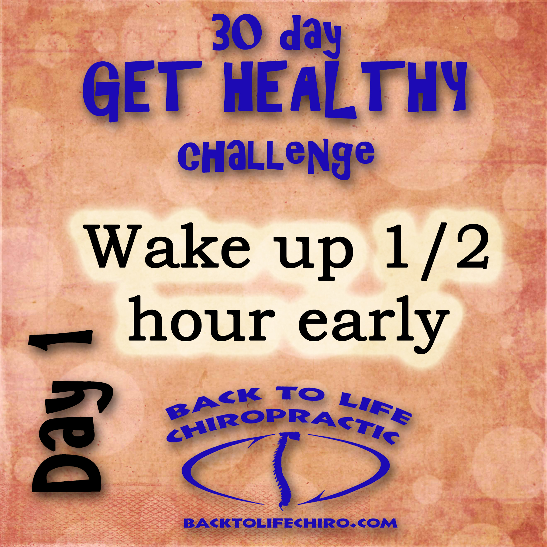 30 Day Get Healthy Challenge, Day 1