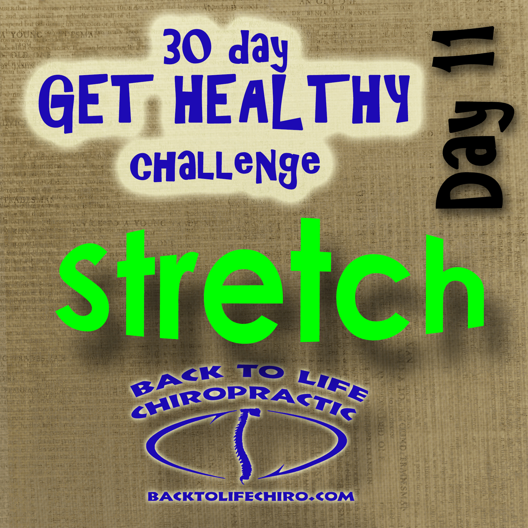 30 Day Get Healthy Challenge, Day 11