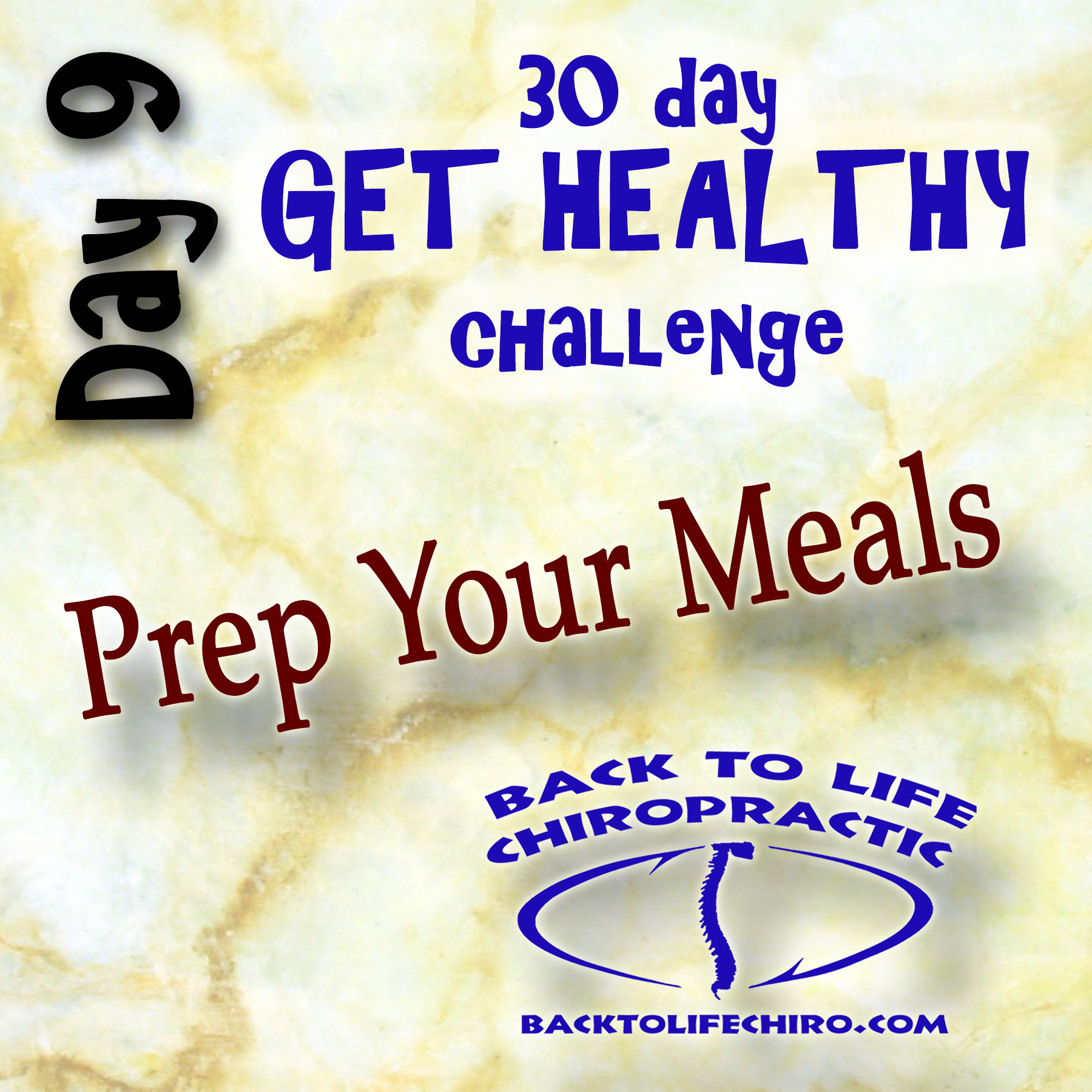 30 Day Get Healthy Challenge, Day 9