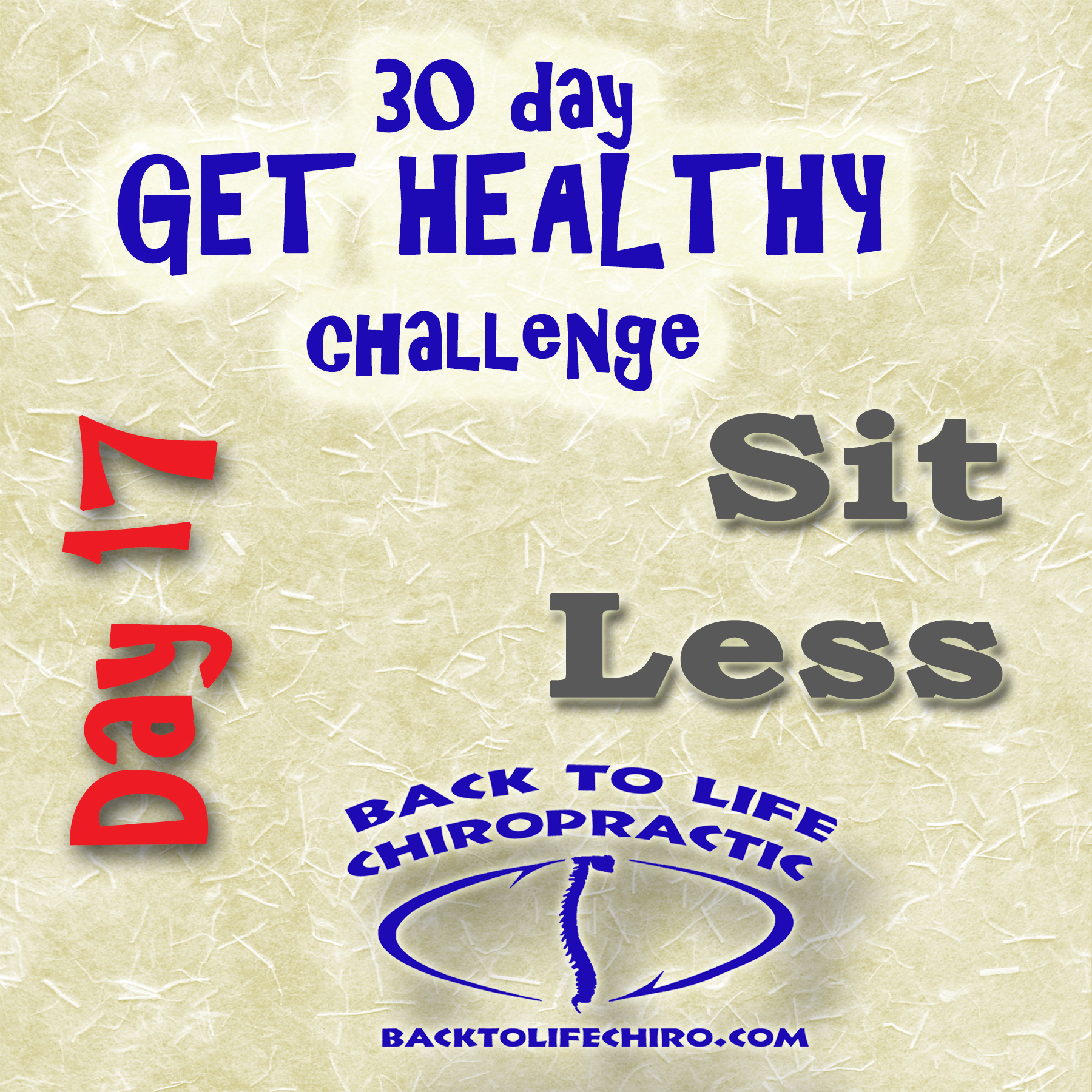 30 Day Get Healthy Challenge, Day 17