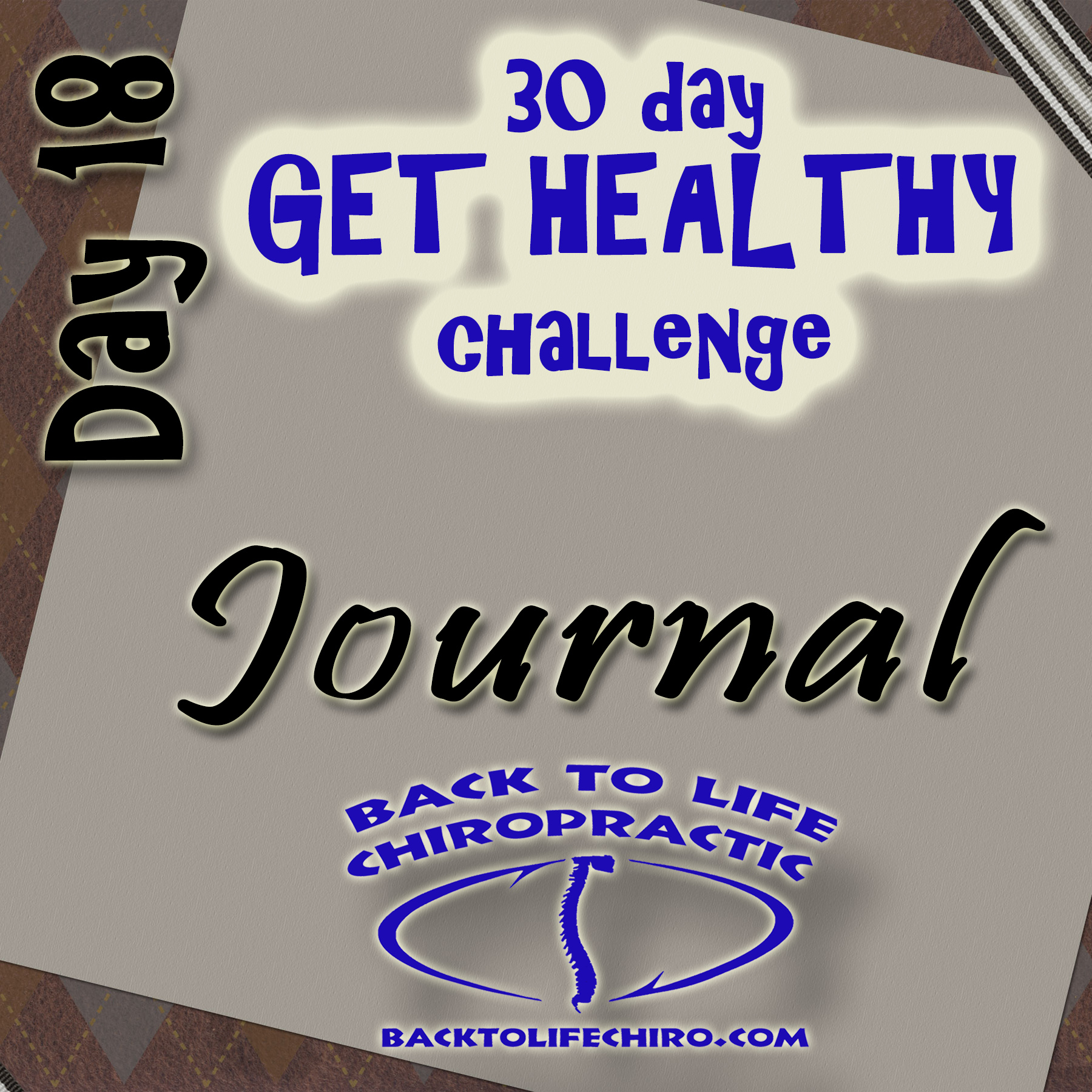 30 Day Get Healthy Challenge, Day 18