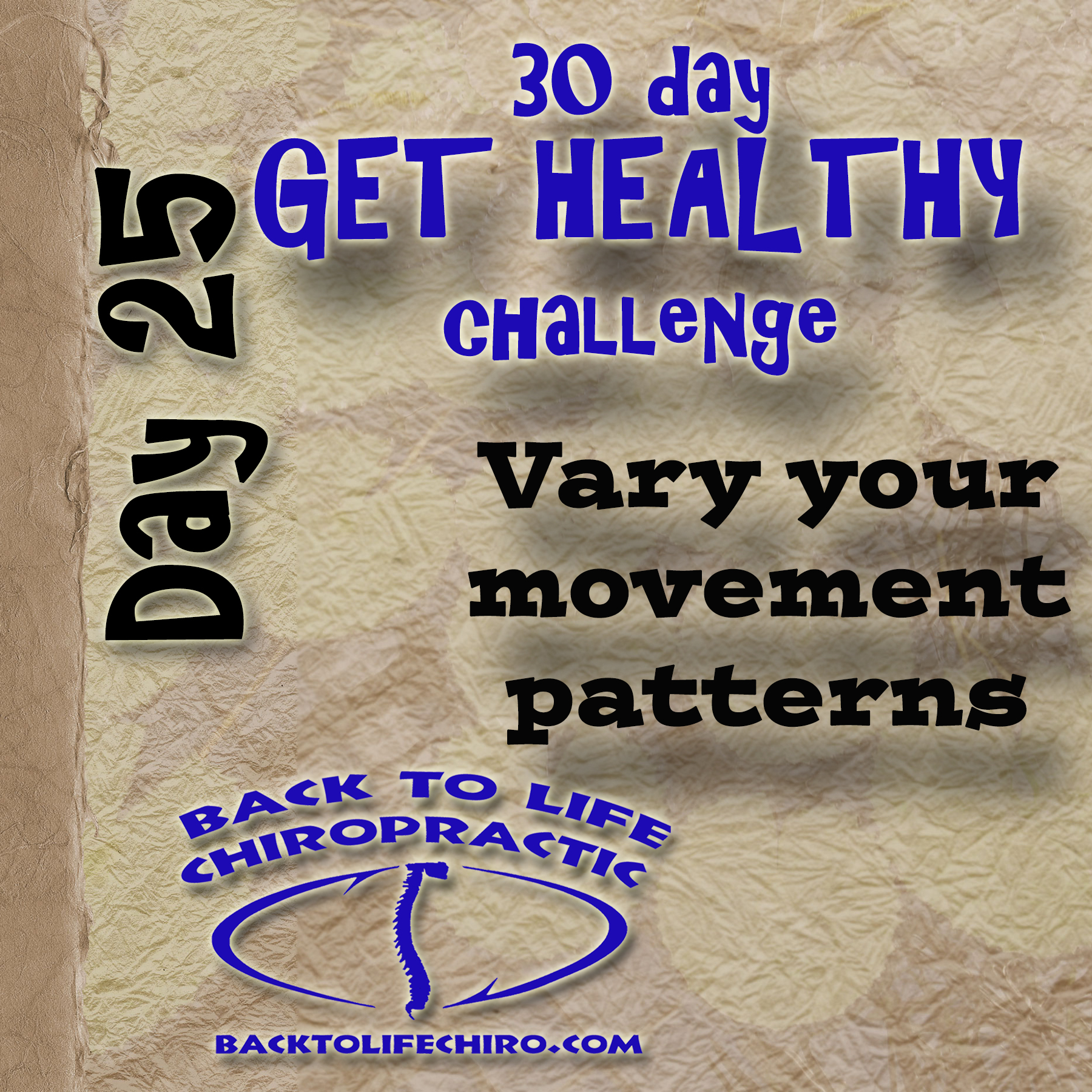 30 Day Get Healthy Challenge, Day 25
