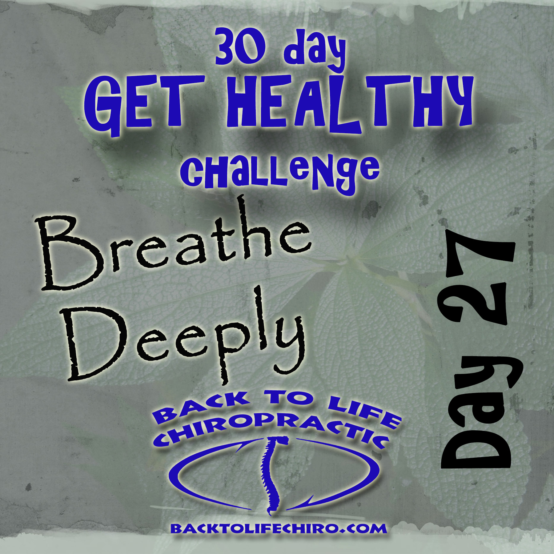 30 Day Get Healthy Challenge, Day 27