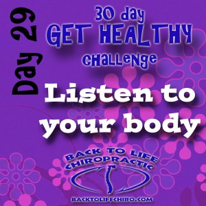 30 Day Get Healthy Challenge, Day 29