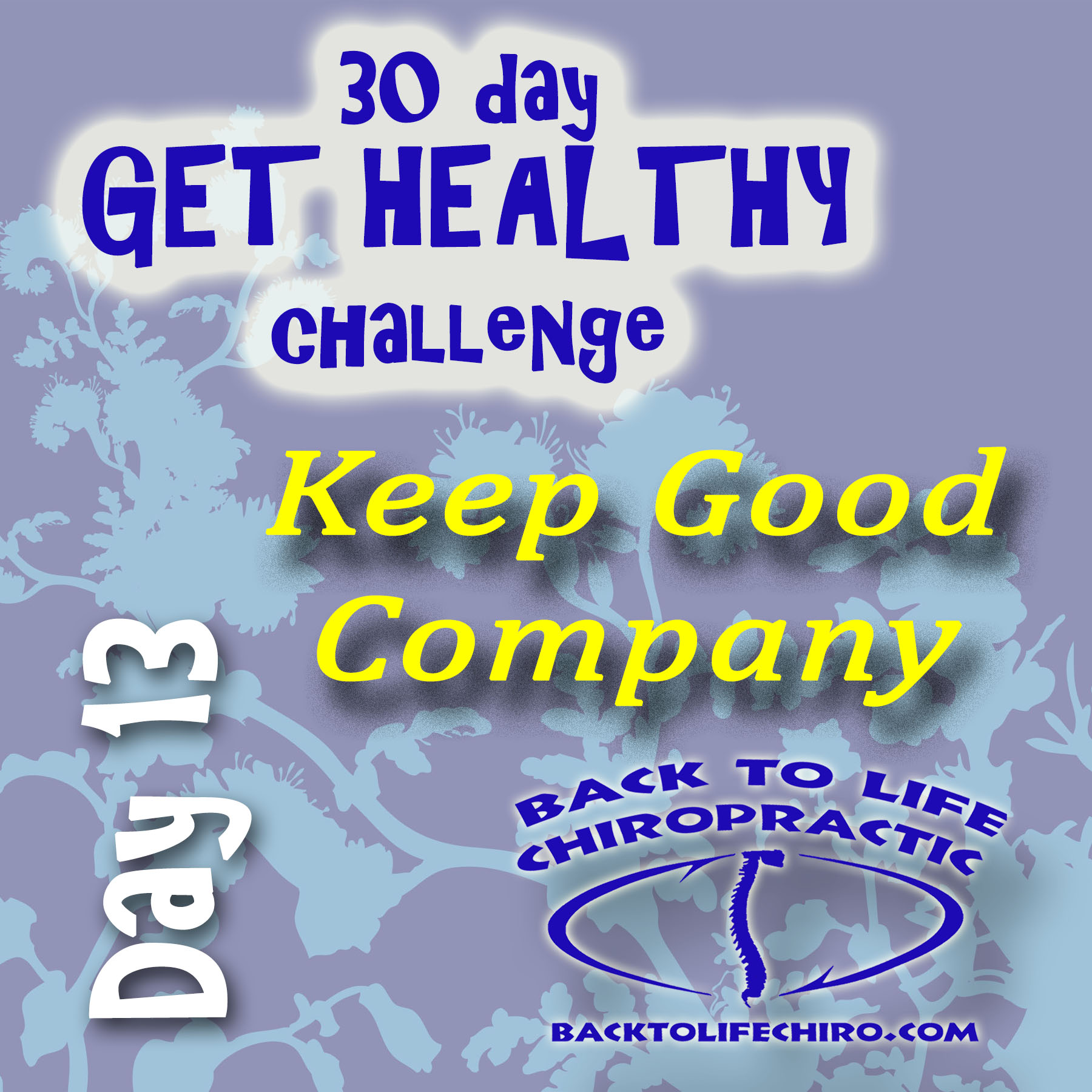 30 Day Get Healthy Challenge, Day 13
