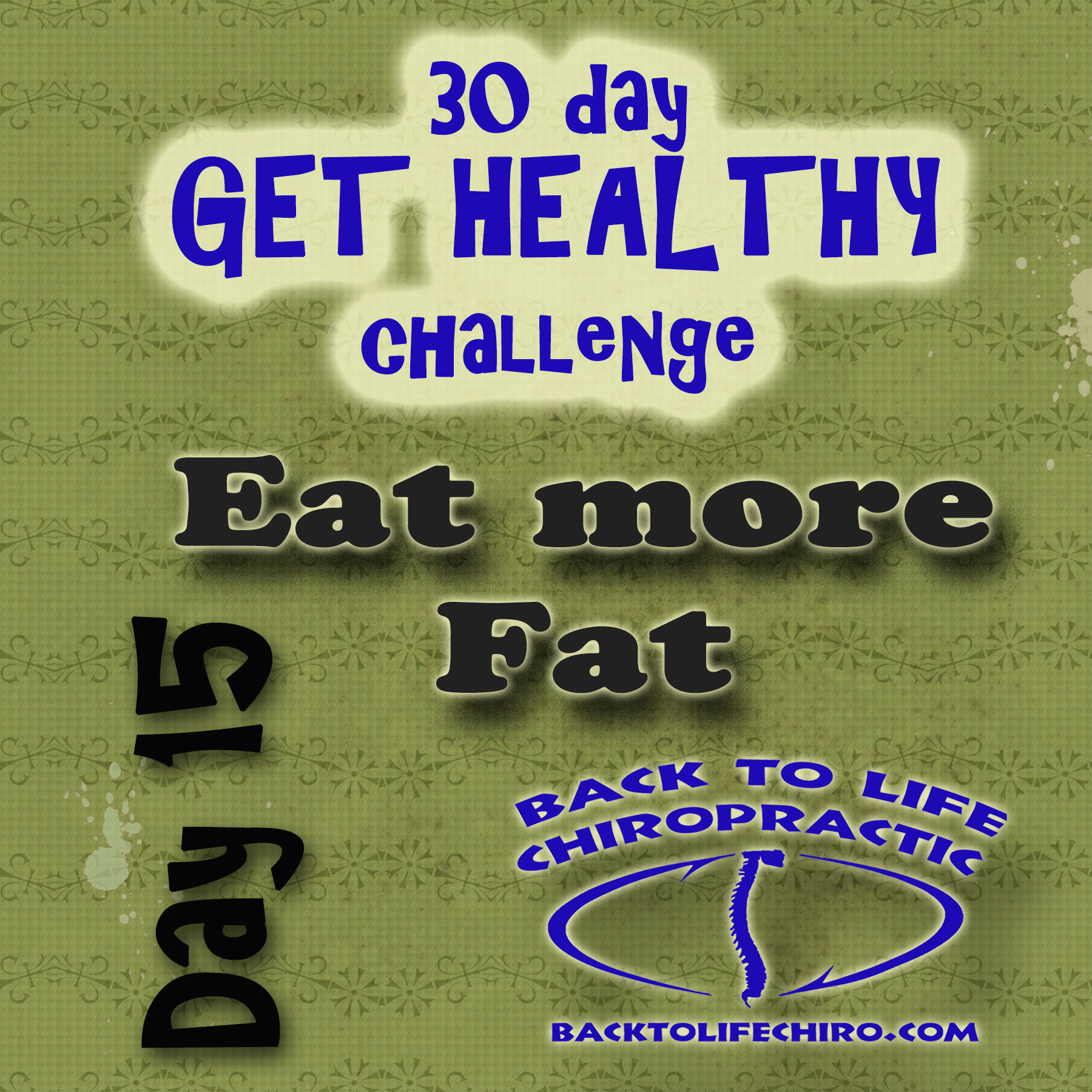 30 Day Get Healthy Challenge, Day 15
