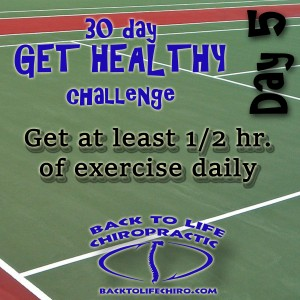 30 Day Get Healthy Challenge, Day 5