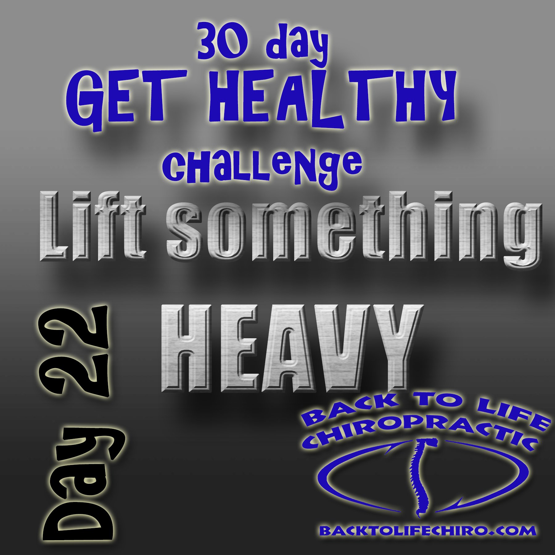 30 Day Get Healthy Challenge, Day 22