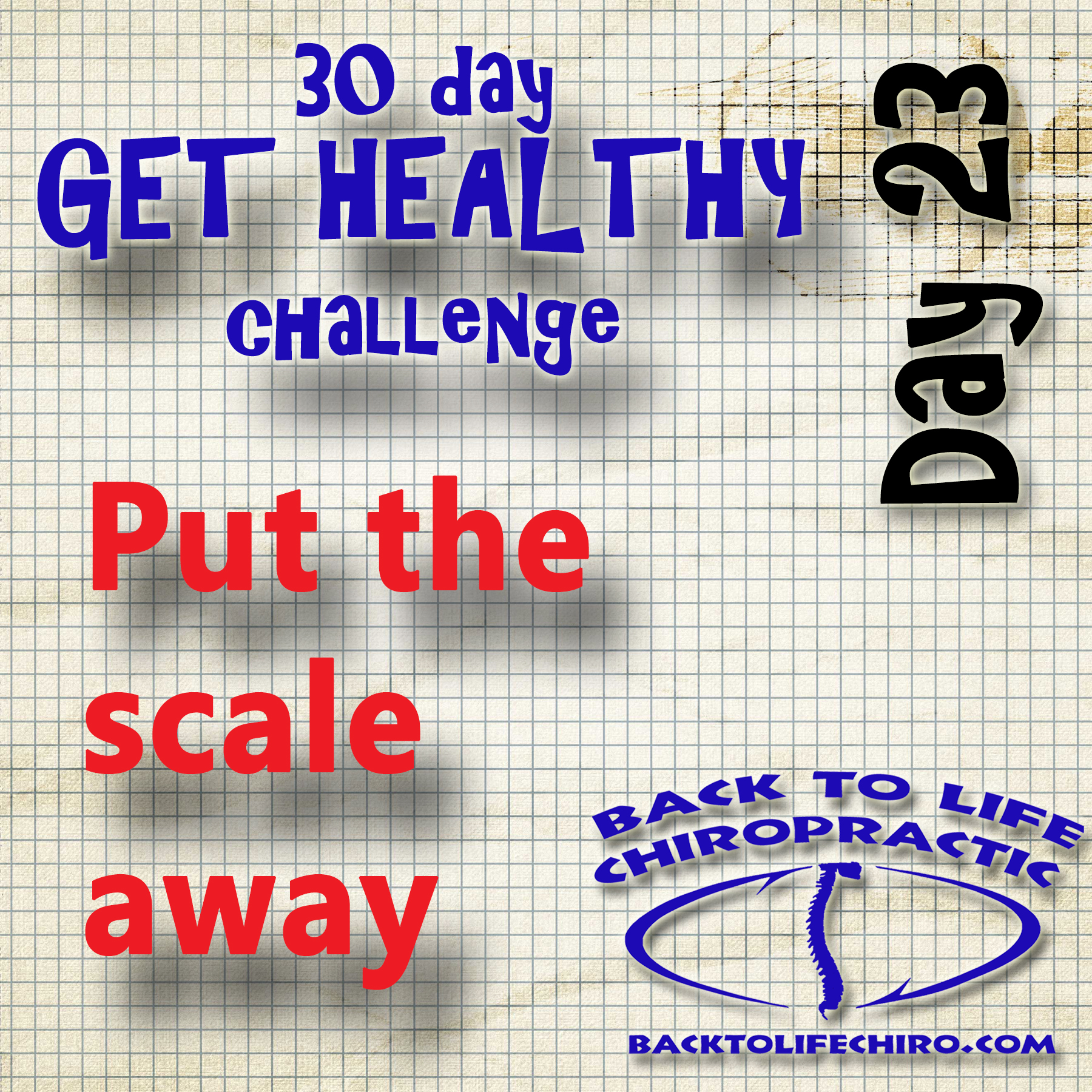 30 Day Get Healthy Challenge, Day 23
